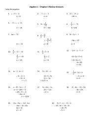 M117 ? Algebra 1 Name Chapter 9 Review Worksheet 11