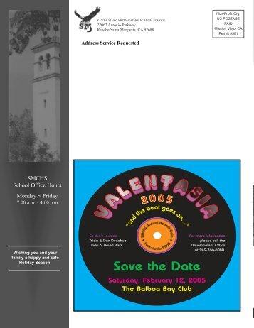 Save the Date - Santa Margarita Catholic High School