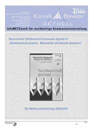InfoNETZwerk für nachhaltige ... - Bund Naturschutz Nürnberg