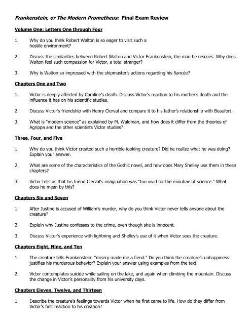 frankenstein chapter 3 summary