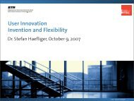 User Innovation Invention and Flexibility - SMI