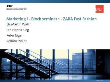 Marketing I - Block seminar 1 - ZARA Fast Fashion - SMI