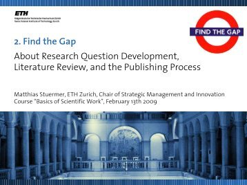2. Find the Gap About Research Question Development ... - SMI