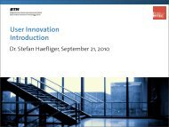 User Innovation Introduction - SMI