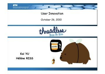 User Innovation - Threadless - SMI