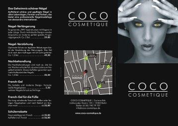 Das Geheimnis schöner Nägel Nagel ... - Coco Cosmetique