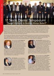 1st Smile Dental Symposium - Smile Dental Journal