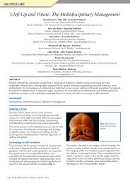 Cleft Lip and Palate: The Multidisciplinary Management