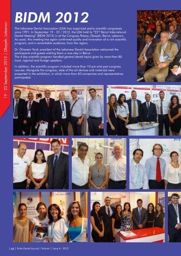 Smile Dental Journal - December 2012 - Volume 7, Issue 4