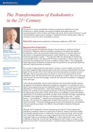 The Transformation of Endodontics in the 21st Century