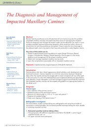 The Diagnosis and Management of Impacted Maxillary Canines