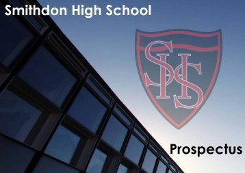 School Prospectus - Smithdon High School, Hunstanton, Norfolk