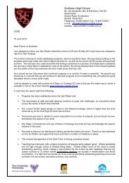 Letter regarding recent Ofsted Visit - Smithdon High School ...