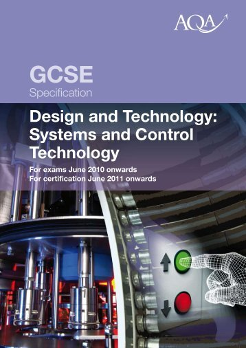 GCSE Design and Technology: Systems and Control Specification ...