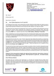 Letter to Parents, 28 November 2012 - Smithdon High School ...