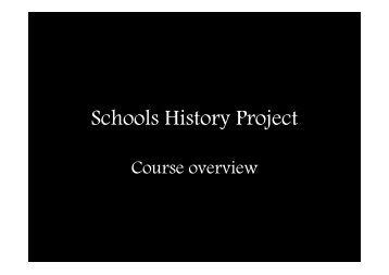 Presentation Overview - Smithdon High School, Hunstanton, Norfolk