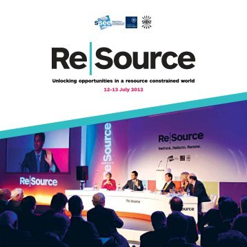 Re|Source 2012 Report - Smith School of Enterprise and the ...