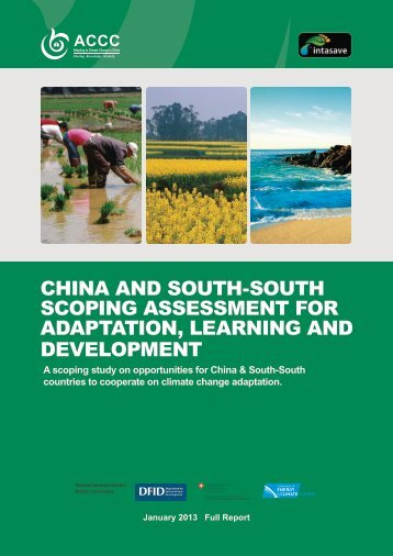 China and South-South Scoping Assessment for Adaptation, Learning