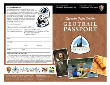 download a CJS Geotrail Passport here - Captain John Smith ...