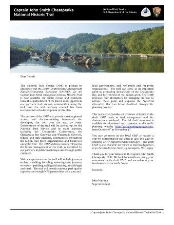 planning newsletter - Captain John Smith Chesapeake National ...
