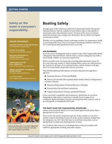 Boating Safety - Captain John Smith Chesapeake National Historic ...