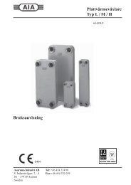 Plattvärmeväxlare Typ L / M / H Bruksanvisning - Schløsser Møller ...