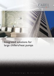 Integrated solutions for large chillers/heat pumps