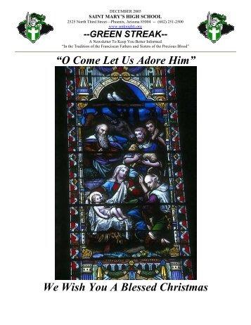 December - Saint Mary's Catholic High School