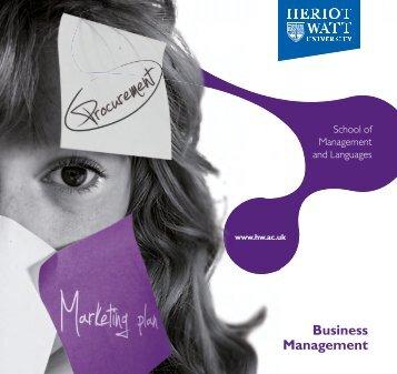 Business Management - School of Management & Languages ...