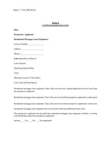 TAC A81201b Conditional Approval Letter