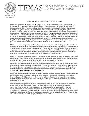 Consumer Complaint Form (SPANISH - FAX - MAIL) - Texas ...