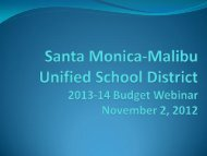 Informational Webinar on 2013-14 Budget - Santa Monica-Malibu ...