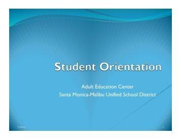 Orientation - Santa Monica-Malibu Unified School District