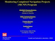 Monitoring Completed Navigation Projects (MCNP) Program