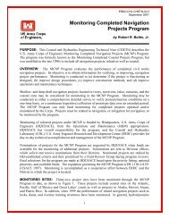 Monitoring Completed Navigation Projects Program - Coastal and ...