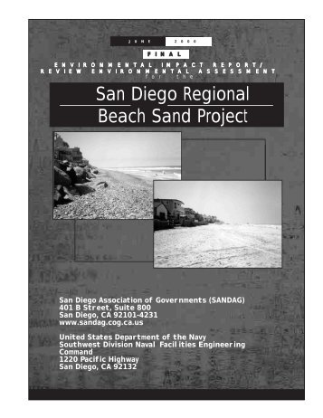 Regional Beach Sand Project EIR/EA - CHL - U.S. Army
