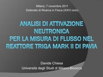 calcolo del flusso integrale - Dipartimento di Fisica G. Occhialini - Infn