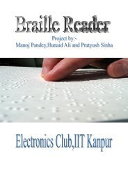 The Braille Reader-Documentation
