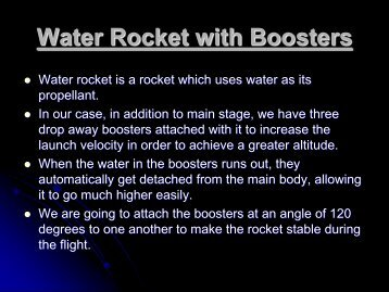 Water Rocket with Boosters