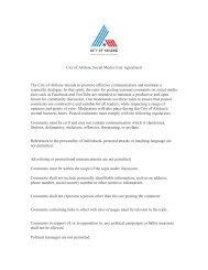 City of Abilene Social Media User Agreement The City of Abilene ...