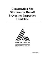 Construction Site Stormwater Runoff Prevention Inspection Guideline