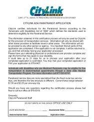 citylink ada paratransit application - City of Abilene, Texas