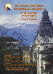 3rd Balkan Geophysical Congress and Exhibition - Journal of the ...