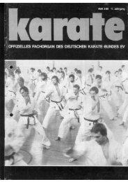 DKB-Fachorgan Nr. 2 - Chronik des deutschen Karateverbandes
