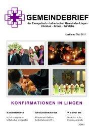 Konfirmationen in Lingen - Evangelisch-lutherische ...