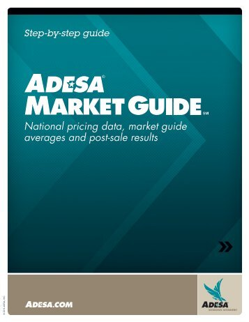 National pricing data, market guide averages and post ... - ADESA.com