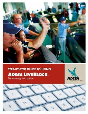 Step-by-Step Guide to Using ADESA LiveBlock - ADESA.com