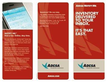 Notify Me - ADESA.com