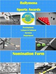 Sports Awards Nomination Form 2012 - Ballymena Borough Council
