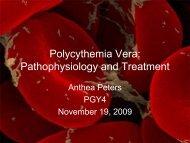 Polycythemia Vera: Pathophysiology and Treatment - Department of ...